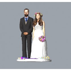 Custom 3D Wedding Cake Topper