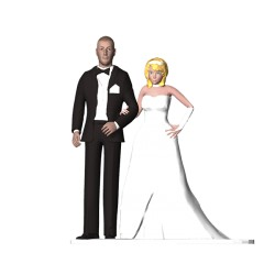 3D Wedding Cake Topper Pose 1