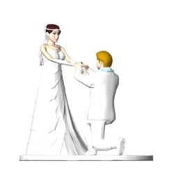 3D Wedding Cake Topper Pose 2