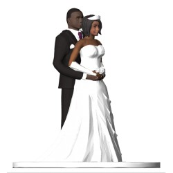3D Wedding Cake Topper Pose 3