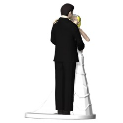 3D Wedding Cake Topper Pose 4